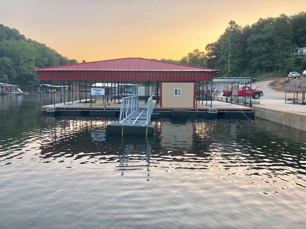 3 Slip Boat Dock With Hip Roof
