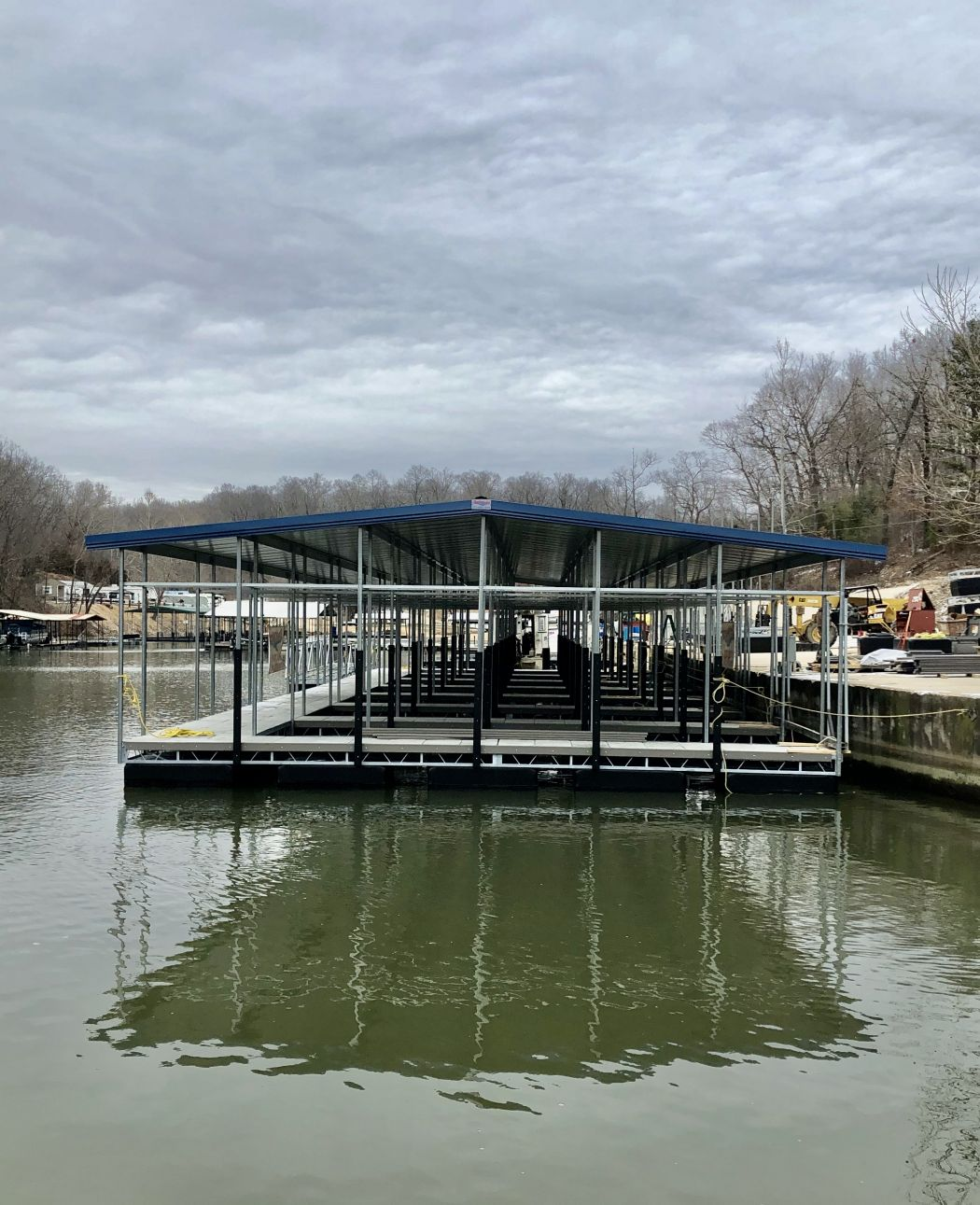 Custom Community Dock with 6 Foot Wide Ramp and Walkway
