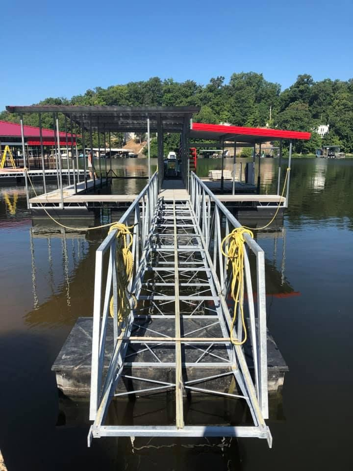 Boat Dock With Swim Deck And PWC Slip