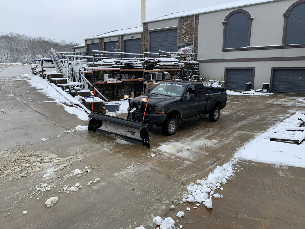 Dock Roof Ice and Snow Removal