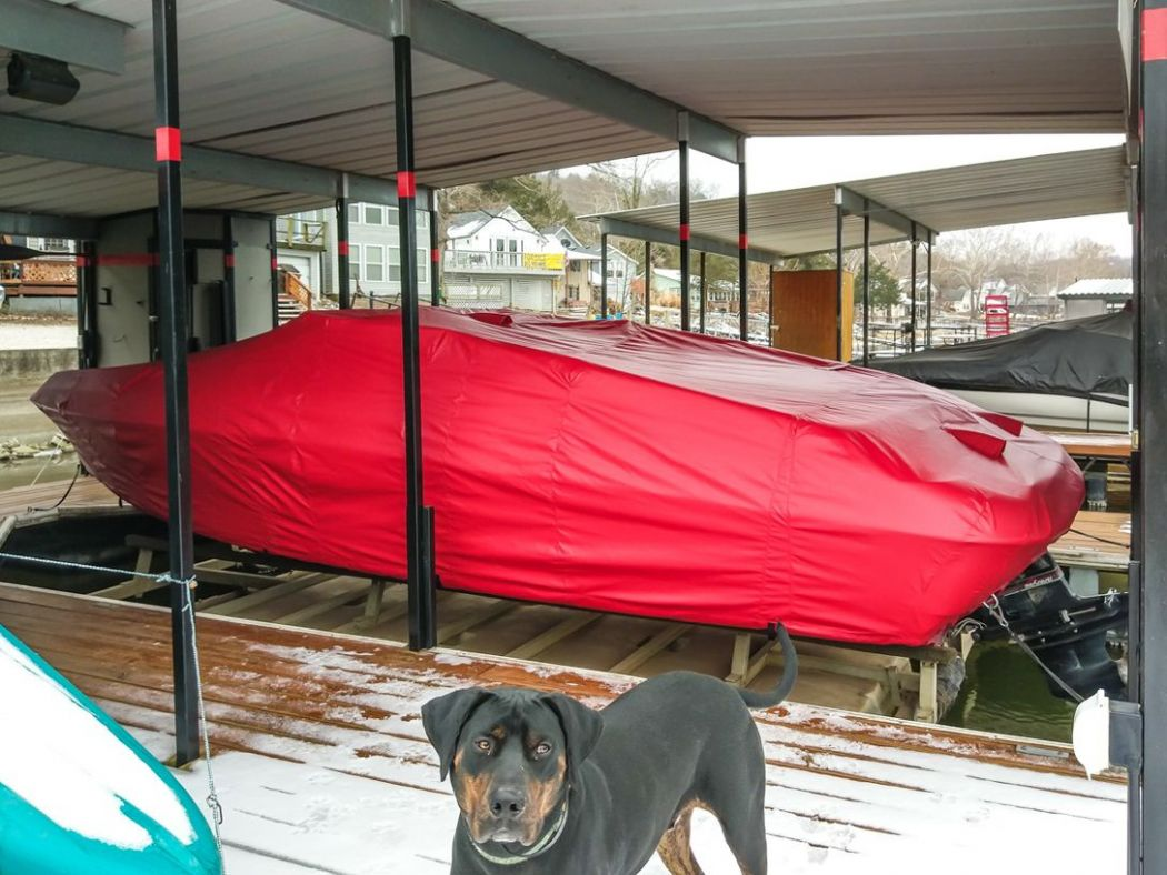 Red Full Boat Cover