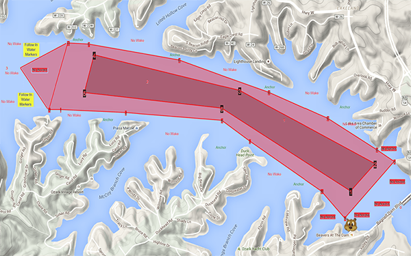 lake race map
