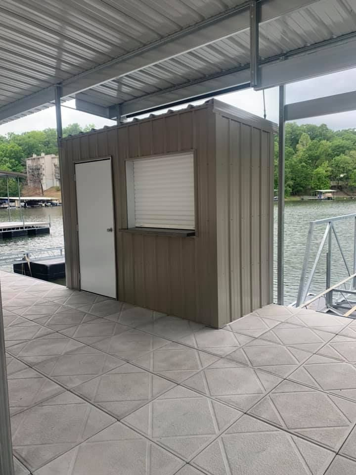 Boat Dock with Dock Accessories and PWC Lift