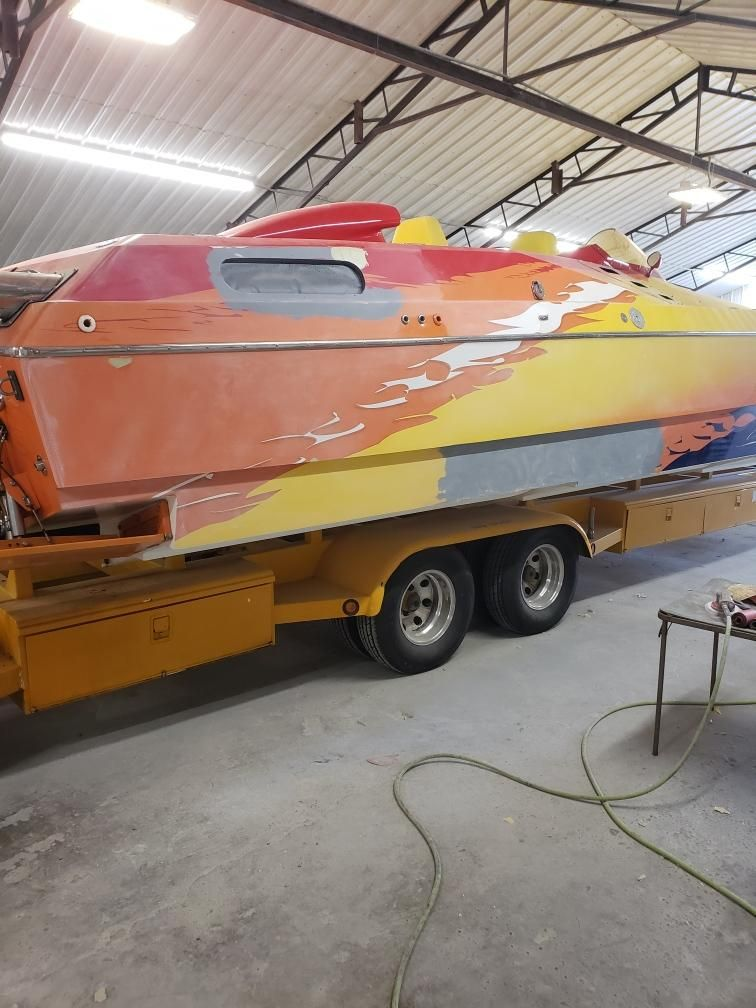 1994 Skater Custom Boat Paint