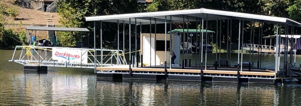 2 Slip Boat Dock with Shed